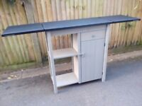 Extendable kitchen island double-sided with drawer, cupboard and shelf in good condition