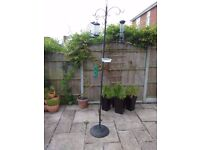 Bird Feeding Station with various seed, nut and fat ball feeders