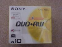 50 DVD+R / 10 DVD+RW / 6 CD-R90 All brand new in original packaging