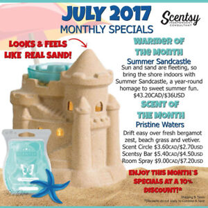 Scentsy products- orders going in bi-weekly!
