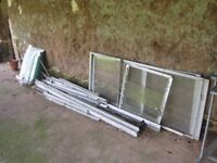6ft x 10ft aliminium Greenhouse for sale. Already dismantled
