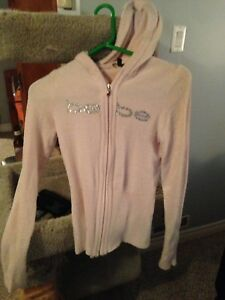 Bebe super soft light pink zip up hoodie Size small