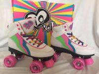 Brand New Rio 140 Candi Children's Rollerskates in white. Size UK 3/EUR 35.5.