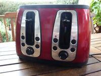 Russell Hobbs Heritage 4-Slice Toaster 19160 - Metallic Red