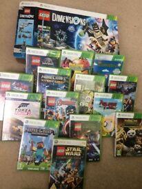Xbox 360 console bundle with games, Fifa 17, Minecraft, Lego etc