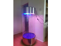 Large Stainless Steel Acrylic Column Cylinder Aquarium vivarium Tank for sale