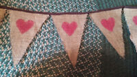 Rustic wedding decor for sale (Pink, brown and burlap)