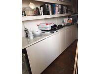 PERFECT OFFICE KITCHENETTE/ STATIONARY STORAGE FOR SALE INCLUDING FRIDGE IKEA KITCHEN UNITS