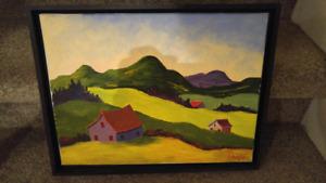 2 tableaux du peintre Léandre Proulx
