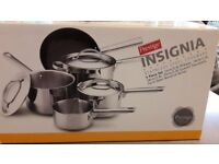 Set of 5 Prestige Stainless Steel Pans