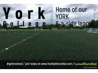 York 6 a side leagues - Places available now for new teams to join