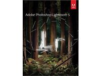 GENUINE ADOBE PHOTOSHOP LIGHTROOM 5 NEW ON ORIGINAL SEALED DISC WITH KEYS FOR WINDOWS PC/LAPTOP