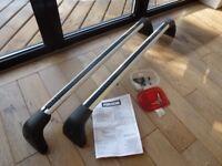 Mazda 6 roof bars / rack, genuine Mazda brand, lockable aluminium 'aero bar' design