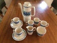 Coffee Set, Empire Porcelain Co. 5 cups and saucers, milk jug, sugar bowl, coffee pot