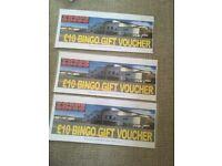 £30 bingo gift vouchers (NO EXPIRY DATE)
