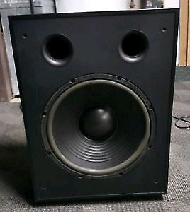 "12"" PSB Subsonic 6 powered subwoofer speaker."