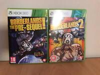 Borderlands Pre-sequel and 2 for Xbox 360