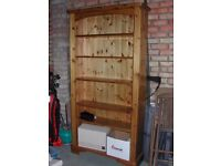 Antique Style waxed Pine Book Case