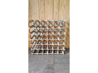 Wine Rack for 36 bottles sturdy wood and steel free standing