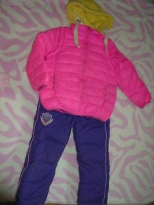 7 yrs Girl's --- Down Filled Snowsuit (Brand NEW Snowpant)