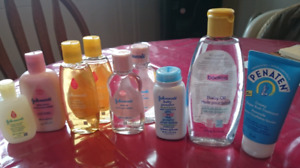 Baby soap, cream,lotion and penaten for bad bum