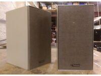 Vintage Technics SB-40 Bookshelf Speakers, Fullrange Drivers.