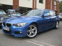 2013 63-Reg BMW 318d M-Sport Touring,SUPERB ESTORIL BLUE & FULL BLACK LEATHER!!!