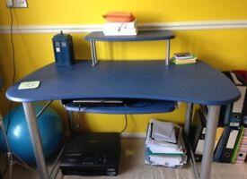 Blue desk computer laptop desk