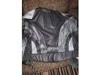 leather biking jacket