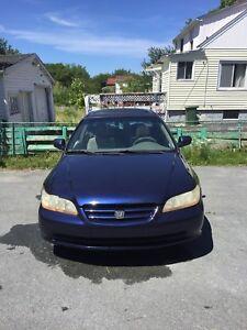 2002 Honda Accord for parts or repair