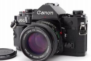 Canon A-1 35mm SLR Film Camera, with case