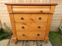 Antique Pine Scotch Chest of Drawers