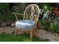 ERCOL blonde armchair chair Mid Century ORLA KIELY upholstery *Offers Welcome*