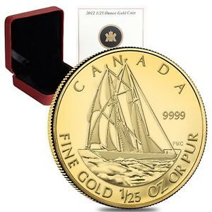 2012 1/25 Ounce Gold Coin - The Bluenose