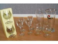 10x Beer Wine Whisky Port Drink Dessert Glasses Crystal Glassware Mix Size Bundle Small Medium Large
