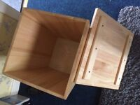 Quality Oak storage box / seat