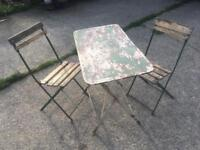 Old French garden furniture set