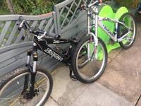 X2 Saracen jump bikes