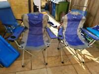 Blue eurohike chairs