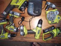 Ryobi power tools set all to 13 items