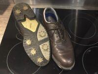 Foot joy men's brown golf shoes size 9