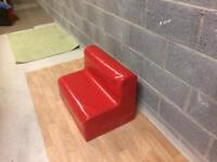 Red seat for infant