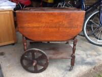 Antique looking wheeled table
