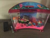 Fish tank with box and accessories