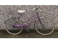 "Vintage Raleigh Caprice Step Through 21"" Frame Bicycle Bike With Dyno Lights"