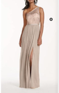NWT Davids Bridal Petal Dress wedding bridesmaid summer $189.95