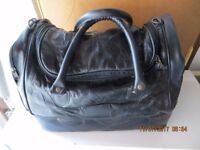 Leather Weekend Holdall