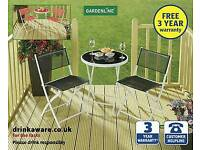 Brand new in box Garden table and chairs bistro set