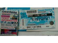 **Creamfields Bronze 4 Day Camping Ticket**
