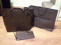 Louis Vuitton bag with purse ,medium size